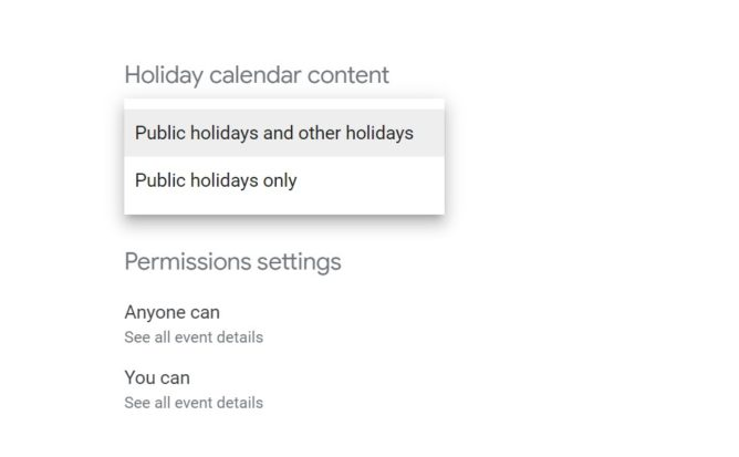 public holidays only
