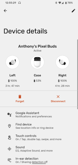 Pixel Buds battery hours 1