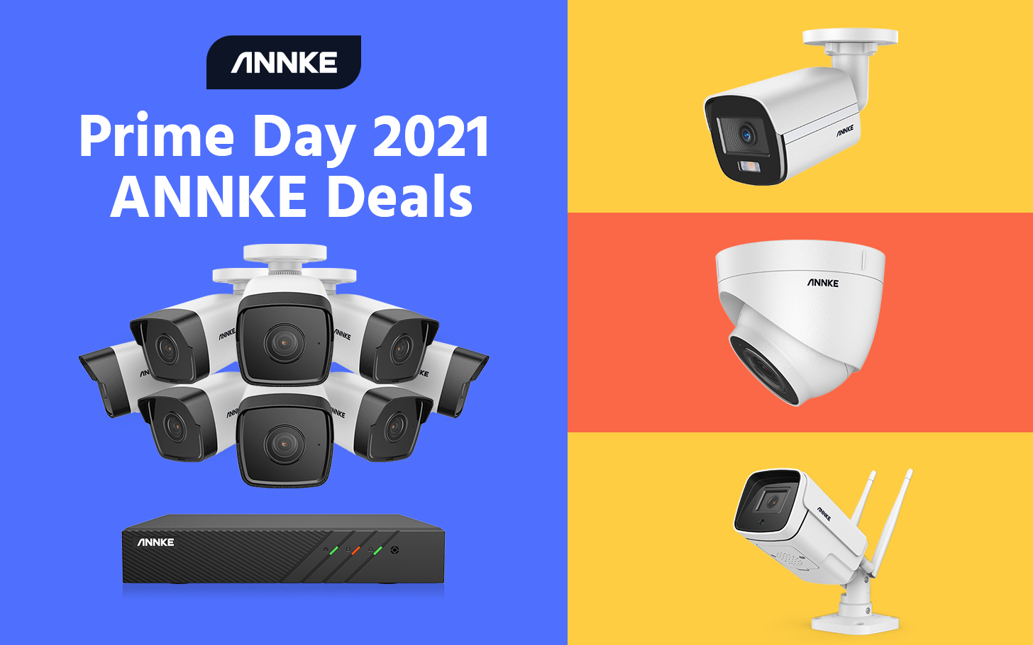 Some of ANNKE's most popular security cameras are 30% off through Prime Day