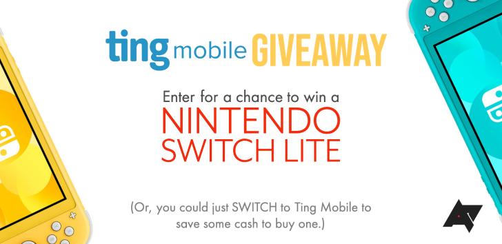 Enter to win a Nintendo Switch Lite from Ting Mobile