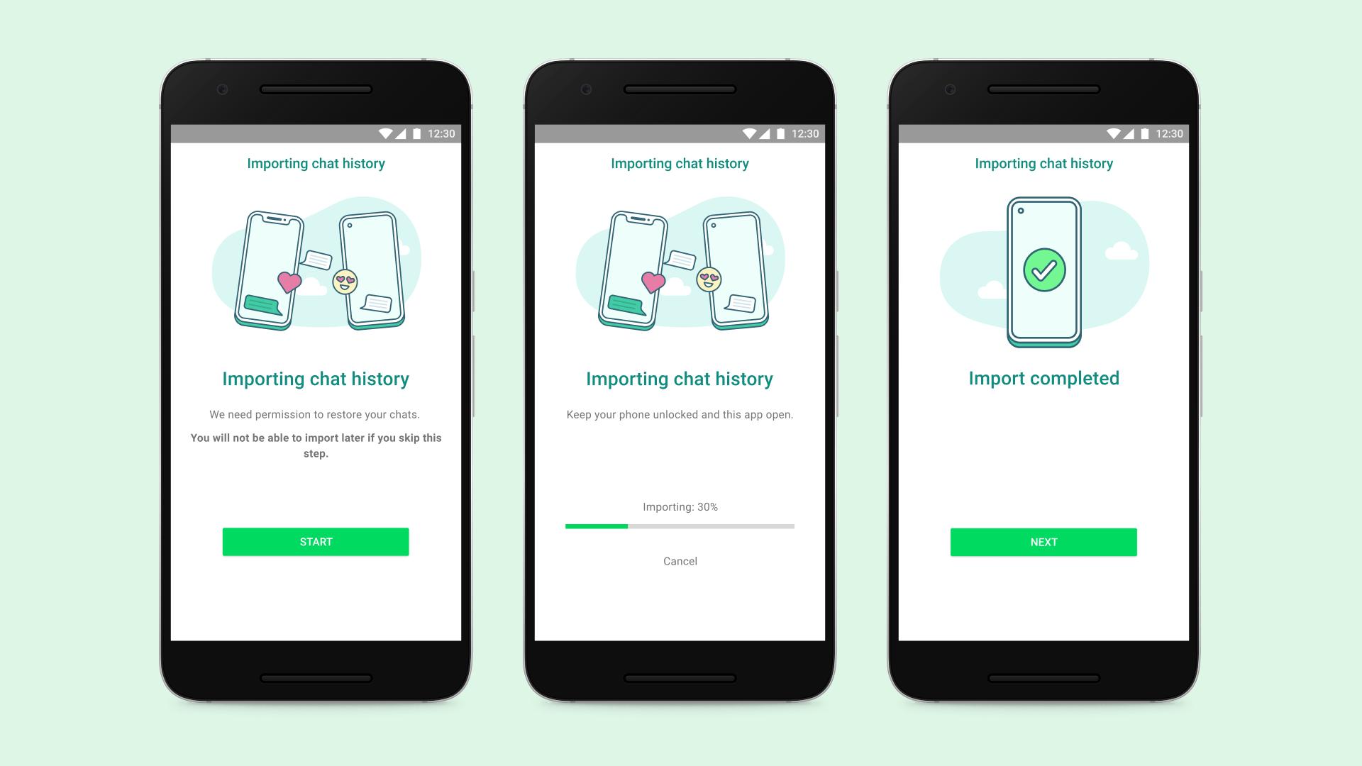 Sie können den WhatsApp Chatverlauf zwischen iOS und Android ...