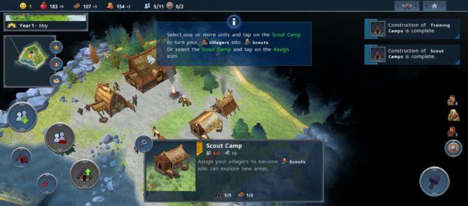 Northgard busy screen