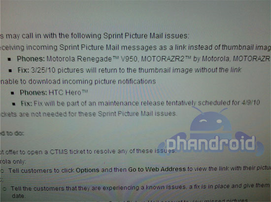 Sprint HTC Hero Android 2 1 Update Delayed Again, New Tentative