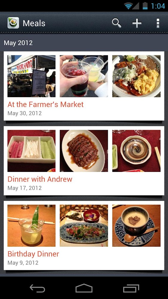 62 best new android apps and live wallpapers from the last - Application android cuisine ...