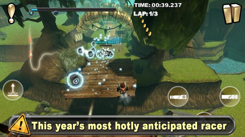 Скачать игру Cracking Sands для Android футуристические гонки на