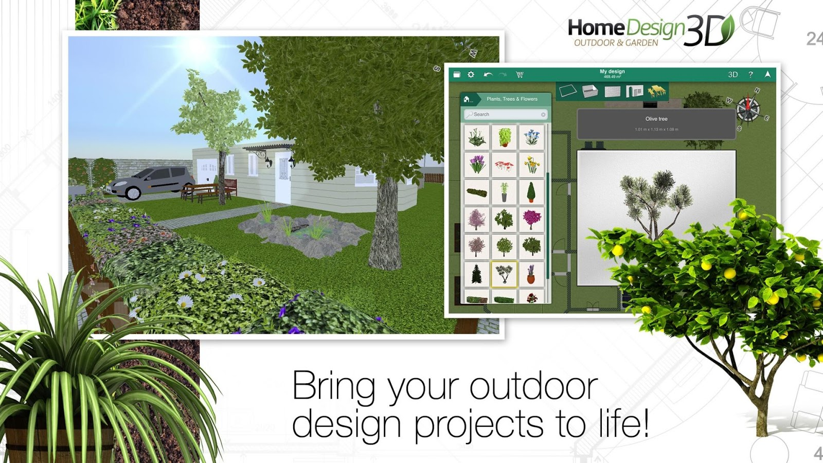 Home design 3d outdoor garden slides into the play store for 3d house app