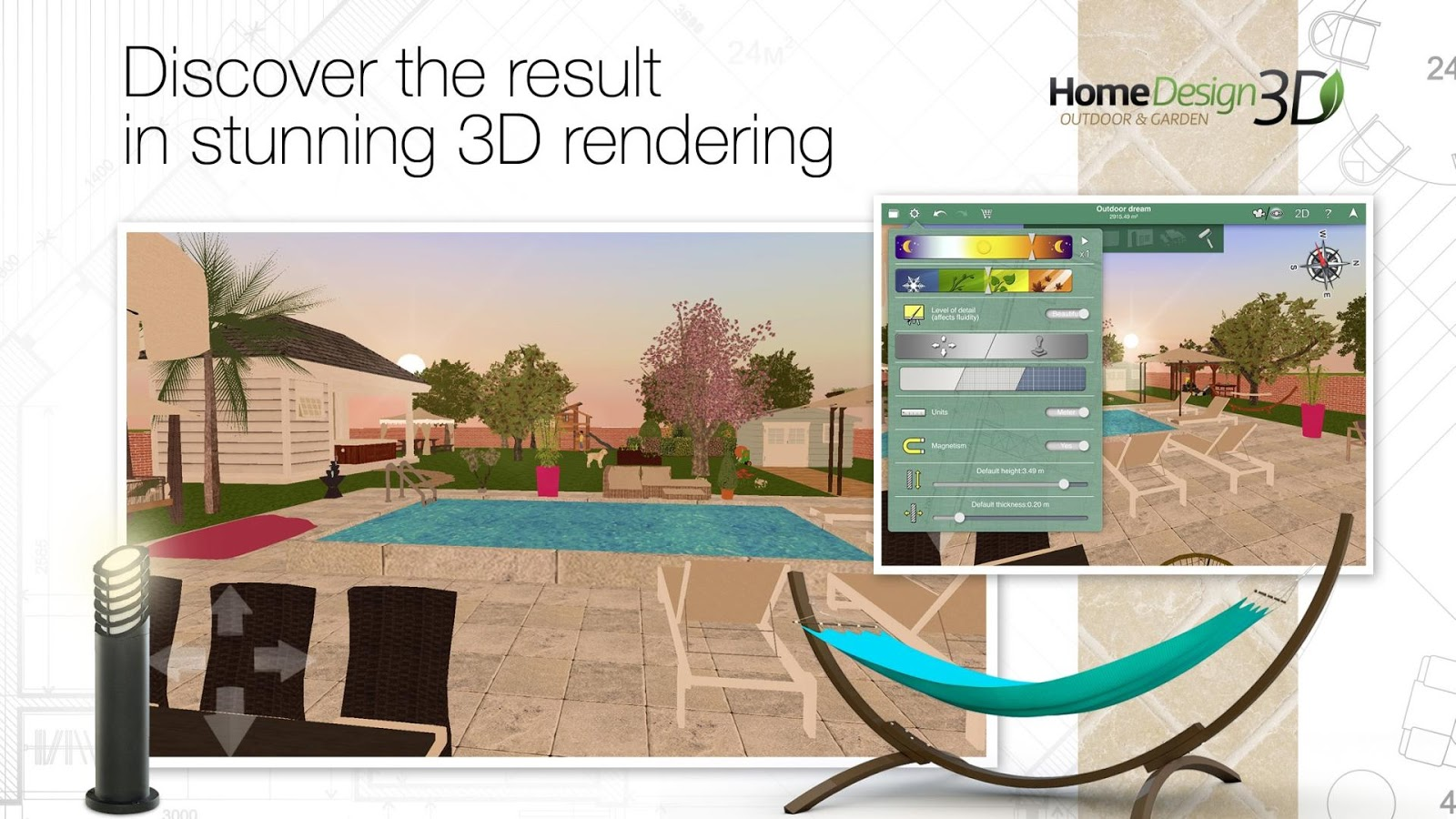 Home design 3d outdoor garden slides into the play store for all your deck pool and open air planning needs