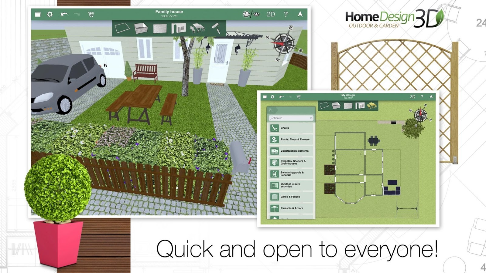 Home Design 3D Outdoor/Garden Slides Into The Play Store