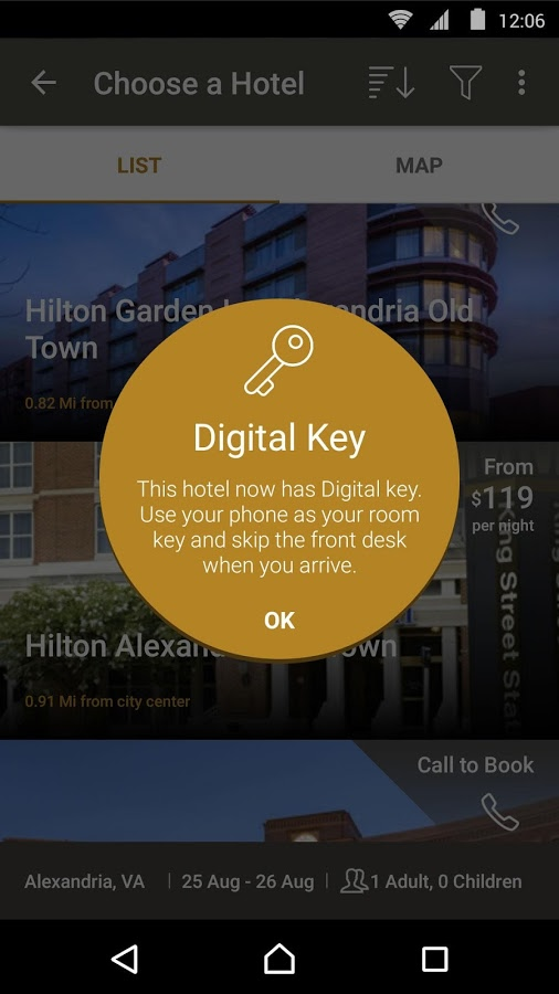 Hilton S Hhonors App Gets Updated With New Digital Key To