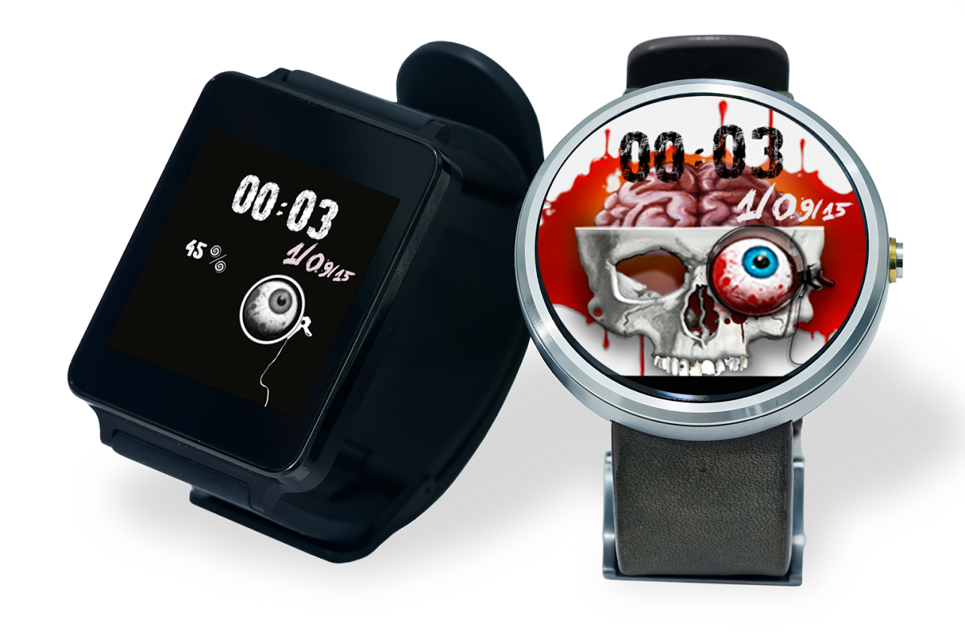 5 android wear watch faces to make your wrist more spooky this halloween