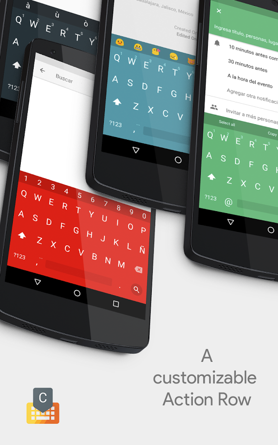 Impressive] Chrooma Keyboard 3 0 adds gestures, themes and adaptive