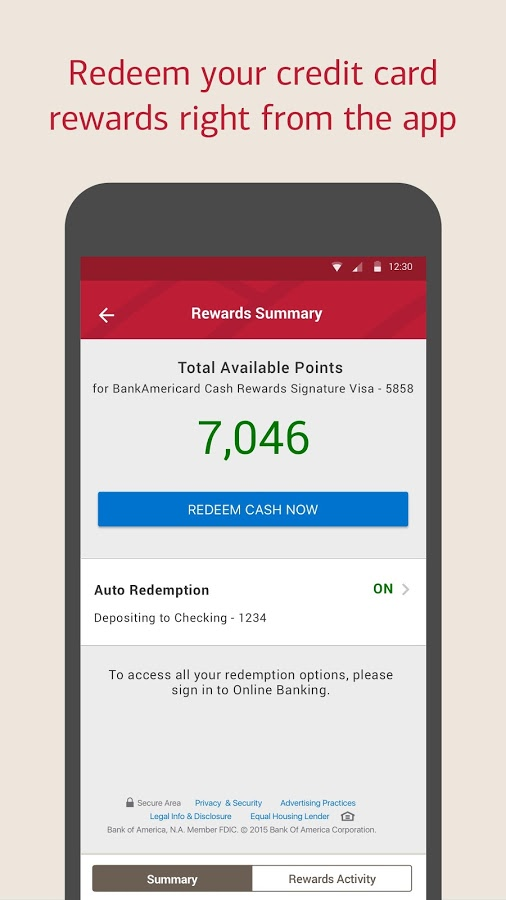 Bank of america revamps interface in version 7 adds spanish android police ccuart Image collections