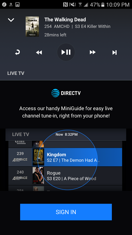 DIRECTV Remote App can control your receiver from your phone