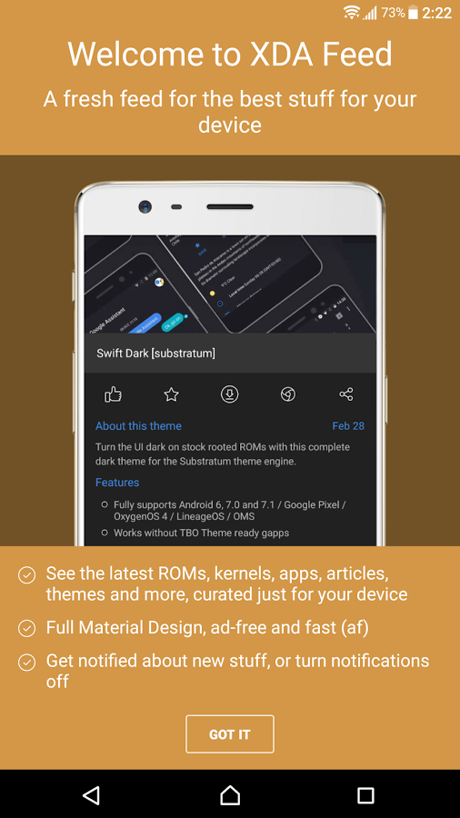 XDA Feed is a curated news source from the XDA Forums and Portal